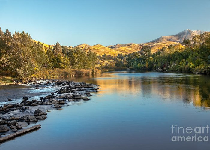 Idaho Greeting Card featuring the photograph Peaceful River by Robert Bales