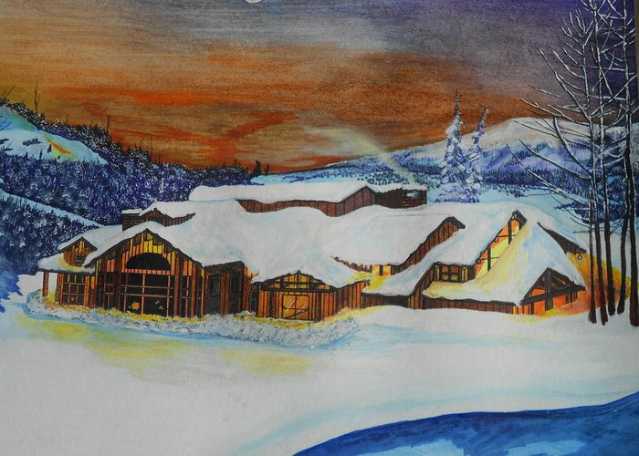 House Greeting Card featuring the painting Peaceful Silence by Willie McNeal