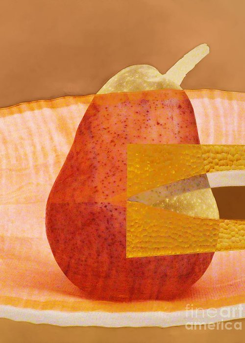 Pear Greeting Card featuring the photograph Pear 44 by Elena Nosyreva