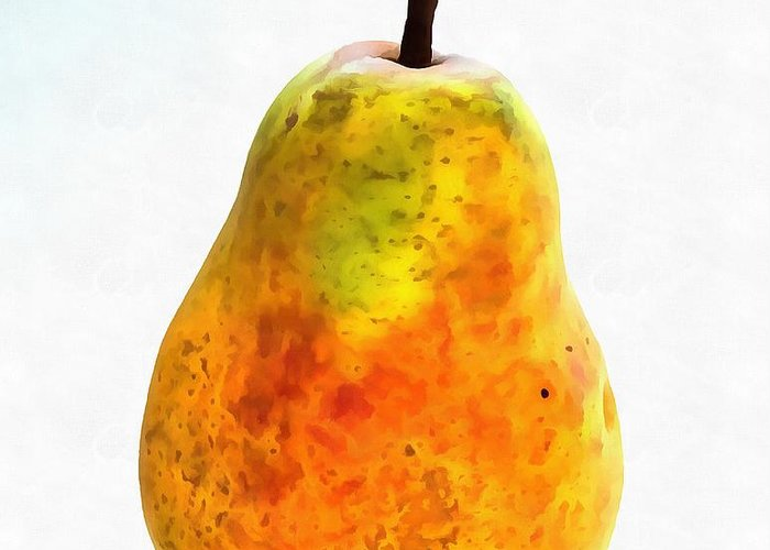 Pear Still Life Greeting Card featuring the painting Pear Still Life by Dan Sproul