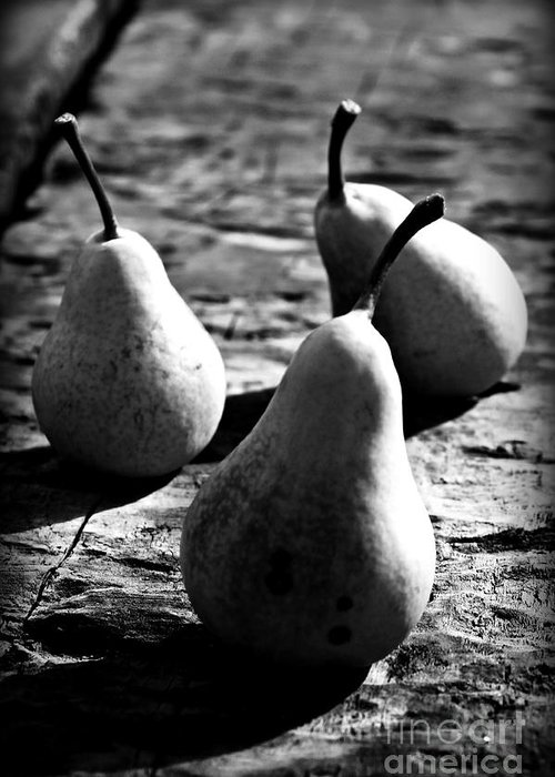Pears Greeting Card featuring the photograph Pears by Clare Bevan