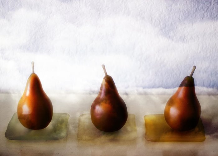 Pear Greeting Card featuring the photograph Pears In The Clouds by Carol Leigh