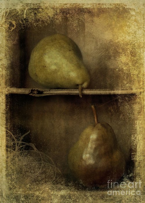 2 Greeting Card featuring the photograph Pears by Priska Wettstein