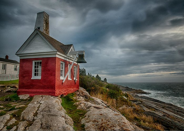 Pemaquid Point Greeting Card featuring the photograph Pemaquid Point by Fred LeBlanc