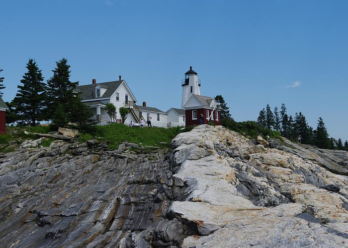 New England Photographs Greeting Card featuring the photograph Pemaquid Point Light House by Gary Benson