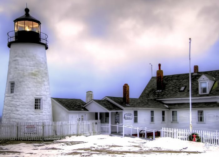 Bristol Greeting Card featuring the photograph Pemaquid Point Lighthouse by Brenda Giasson