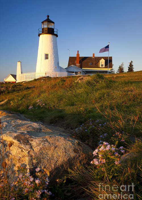 Pemaquid Point Greeting Card featuring the photograph Pemaquid Point Lighthouse by Brian Jannsen