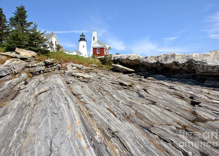 Maine Greeting Card featuring the photograph Pemaquid Point Lighthouse In Maine by Olivier Le Queinec