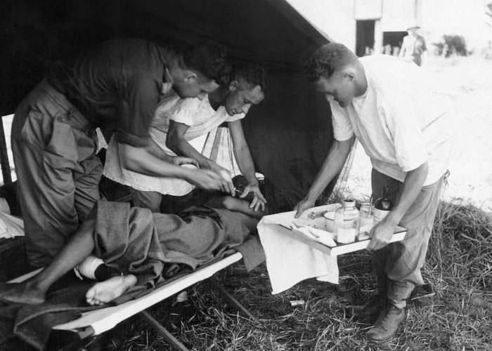 Penicillin Greeting Card featuring the photograph Penicillin Injection, World War II by Science Photo Library