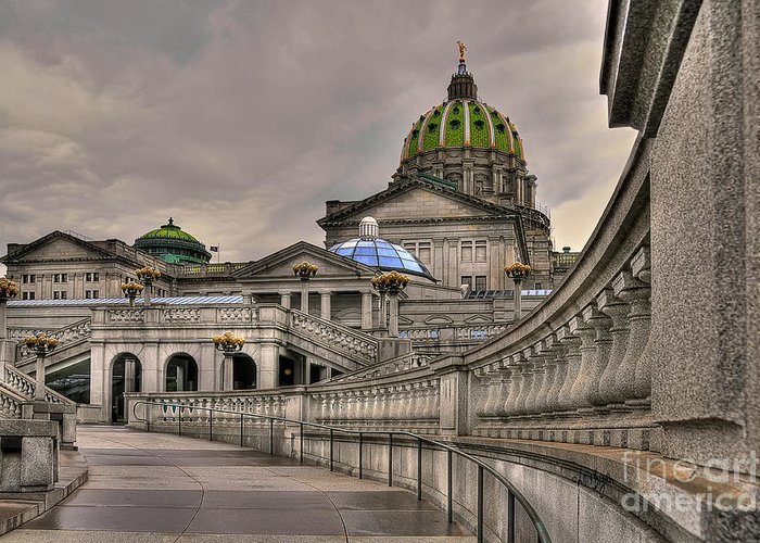 Pennsylvania State Capital Greeting Card featuring the photograph Pennsylvania State Capital by Lois Bryan