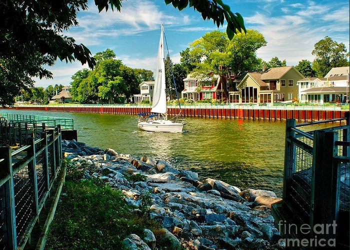 Channel Greeting Card featuring the photograph Pentwater Channel Michigan by Nick Zelinsky
