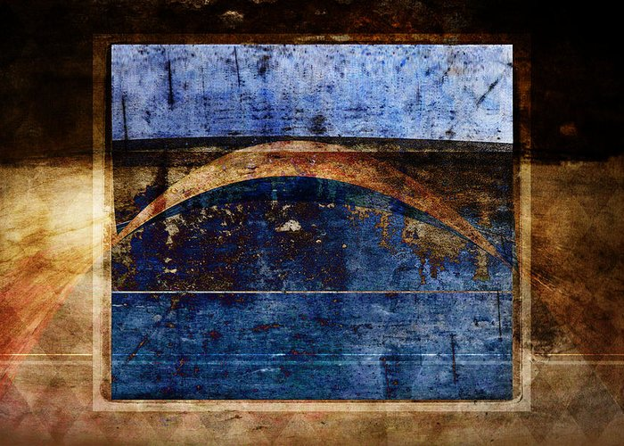 Abstract Greeting Card featuring the photograph Penumbra by Carol Leigh