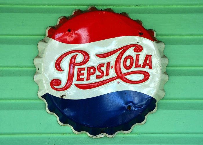 Pepsi Cola Greeting Card featuring the photograph Pepsi Cap by David Lee Thompson