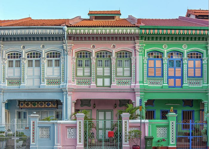 Tranquility Greeting Card featuring the photograph Peranakan Architecture by Edward Tian