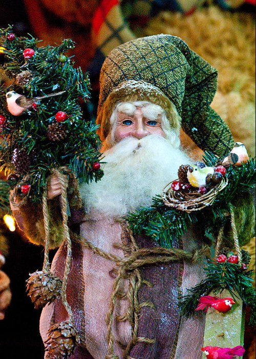 Christmas Greeting Card featuring the photograph Pere Noel by Don Durante Jr