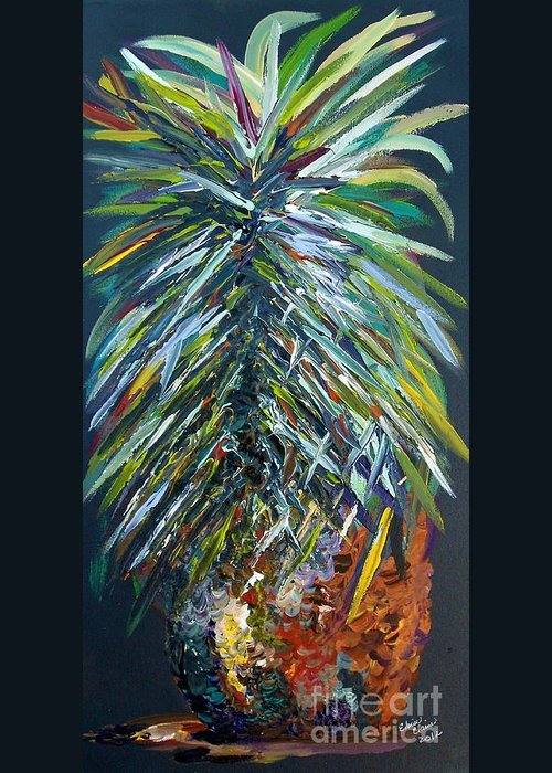 Pineapple Greeting Card featuring the painting Perfect Pineapple by Eloise Schneider
