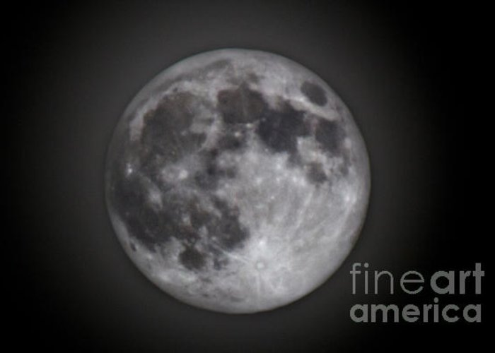 Greeting Card featuring the photograph Perigee Moon by Joel Loftus