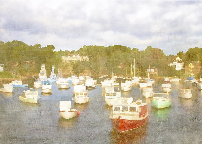 Perkins Cove Greeting Card featuring the photograph Perkins Cove Lobster Boats Maine by Carol Leigh
