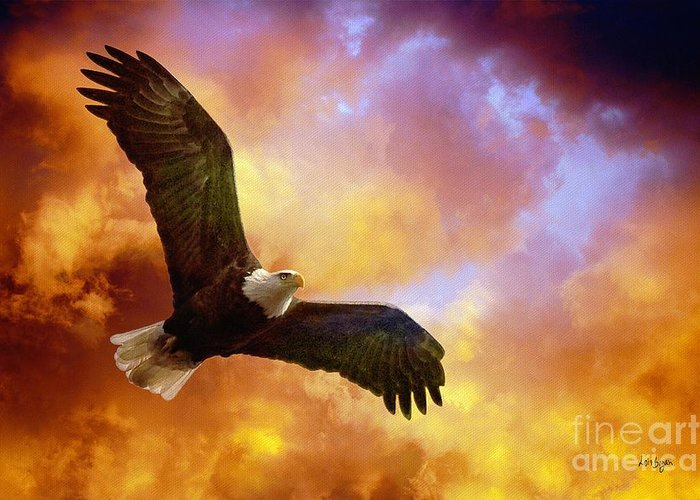 Eagles In Flight Greeting Cards