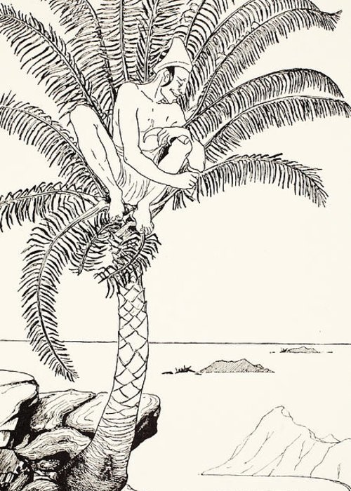 Male Greeting Card featuring the painting Pestonjee Bomonjee Sitting In His Palm-tree And Watching The Rhinoceros Strorks Bathing by Joseph Rudyard Kipling