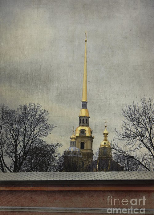 Peter And Paul Fortress Greeting Card featuring the photograph Peter And Paul Fortress by Elena Nosyreva