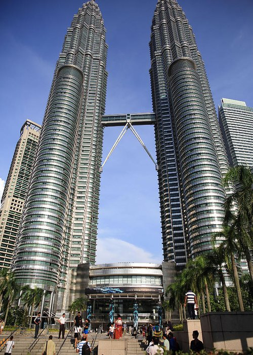 Kl Greeting Card featuring the photograph Petronas Towers 1 Kuala Lumpur by Tony Brown