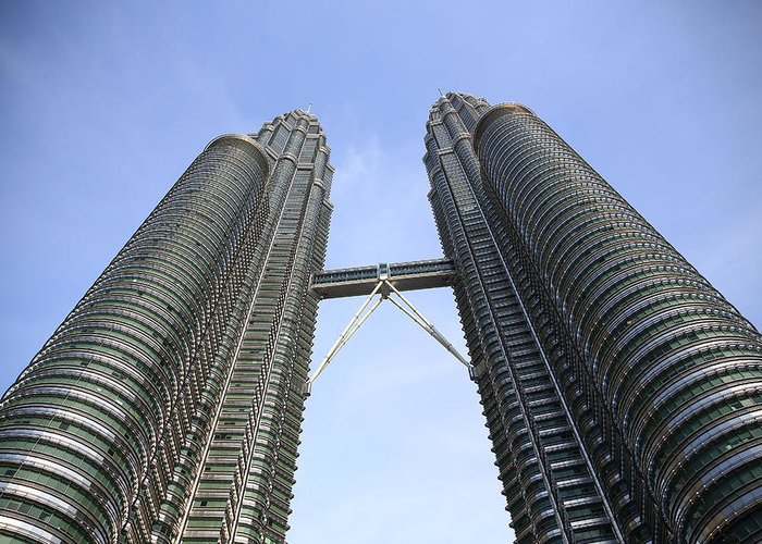 Kl Greeting Card featuring the photograph Petronas Towers 2 Kuala Lumpur by Tony Brown