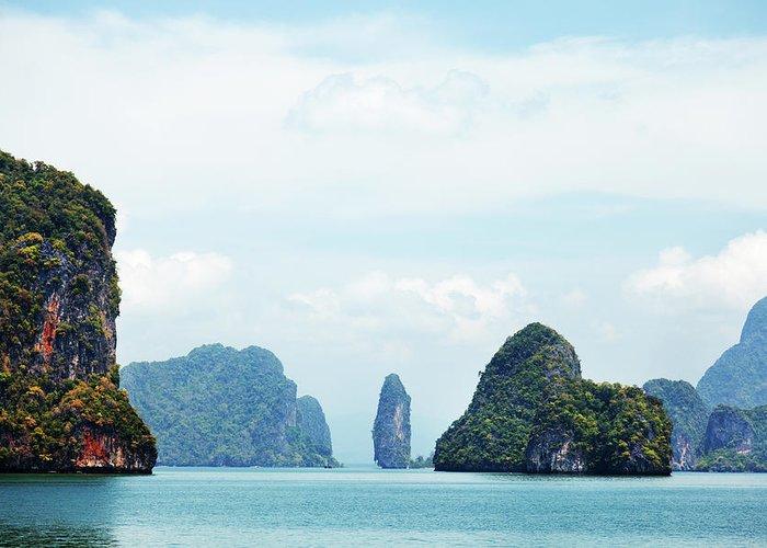 Archipelago Greeting Card featuring the photograph Phang Nga Archipelago Near Phuket by Ivanmateev