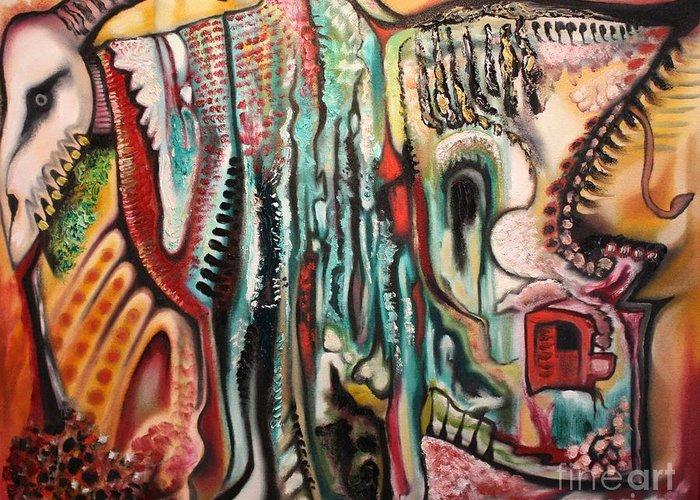 Michael Kulick Greeting Card featuring the painting Phantasmagoria by Michael Kulick