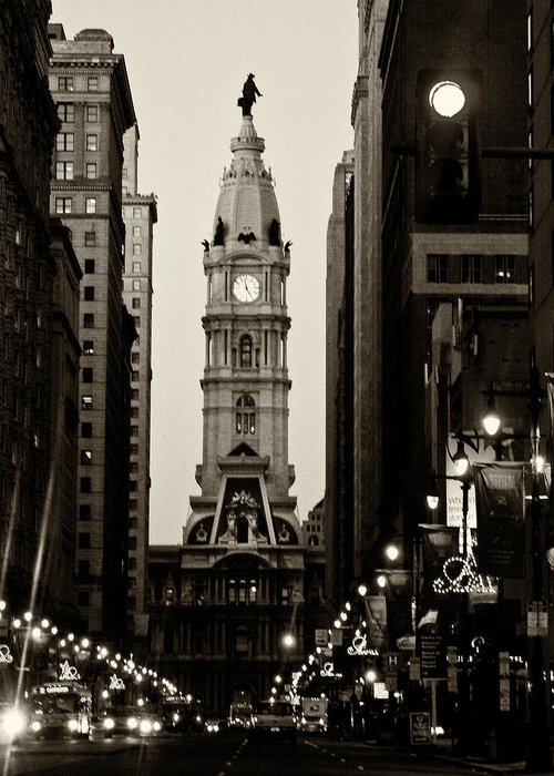 City Hall Greeting Card featuring the photograph Philadelphia City Hall by Louis Dallara