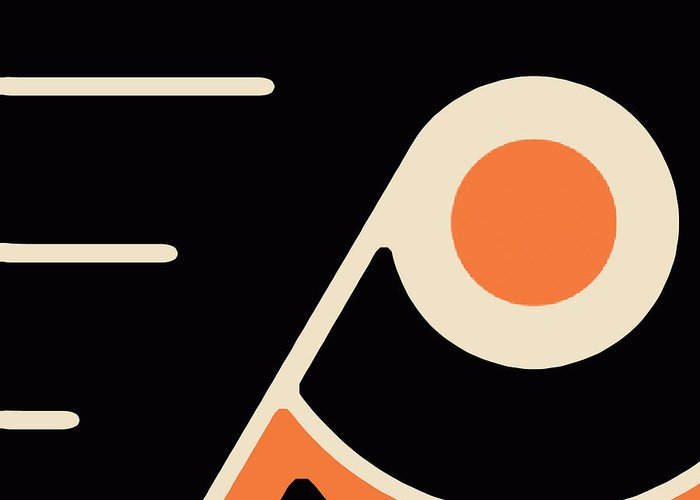Philadelphia Greeting Card featuring the painting Philadelphia Flyers by Tony Rubino