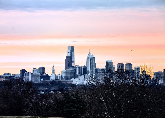 Philadelphia Greeting Card featuring the photograph Philadelphia From Belmont Plateau by Bill Cannon