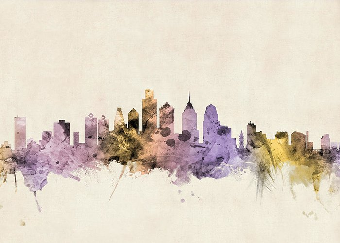 Philadelphia Skyline Greeting Cards