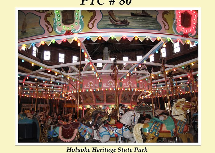 Ptc Greeting Card featuring the photograph Philadelphia Toboggan Company Carousel by Barbara McDevitt