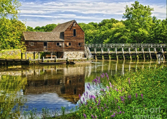 Mill Greeting Card featuring the photograph Philipsburg Mill by Claudia Kuhn
