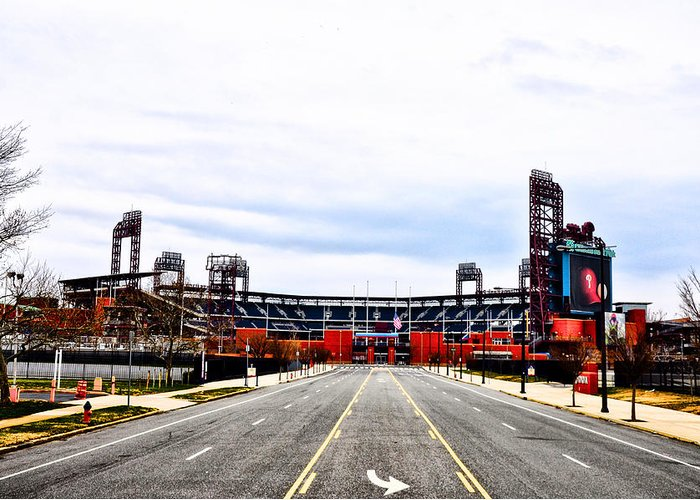 Phillies Stadium - Citizens Bank Park Greeting Card featuring the photograph Phillies Stadium - Citizens Bank Park by Bill Cannon