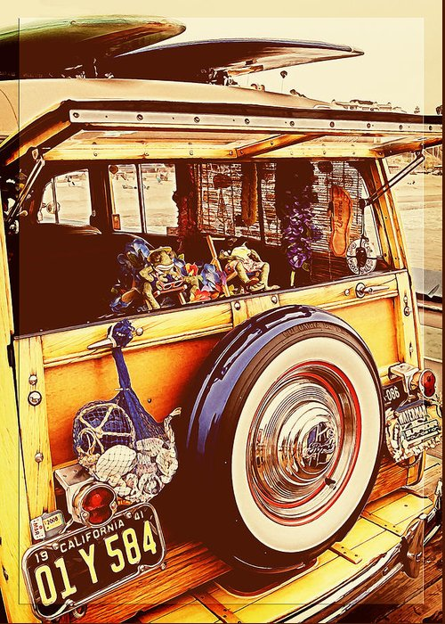 Ford Woodie Greeting Card featuring the photograph Phil's Fabulous 41 by Ron Regalado