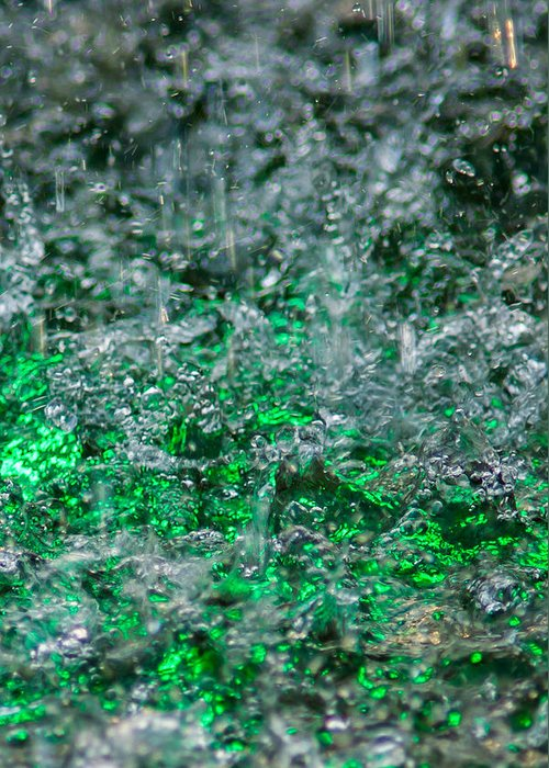 Abstract Greeting Card featuring the photograph Phone Case - Liquid Flame - Green 2 - Featured 2 by Alexander Senin