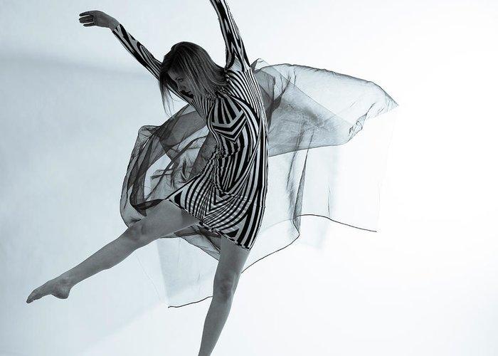 Ballet Dancer Greeting Card featuring the photograph Photofusion Shoot Jan 2013 by Maya De Almeida Araujo