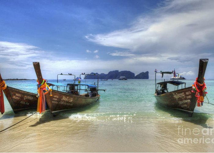 Phuket Greeting Card featuring the photograph Phuket Koh Phi Phi Island by Bob Christopher