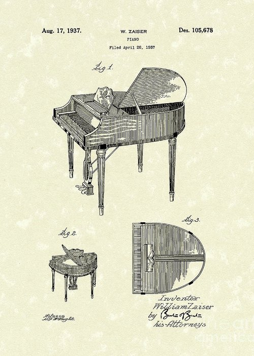 Piano Keyboard Greeting Cards