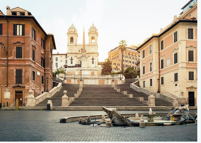 Steps Greeting Card featuring the photograph Piazza Di Spagna, Spanish Steps, Rome by Spooh