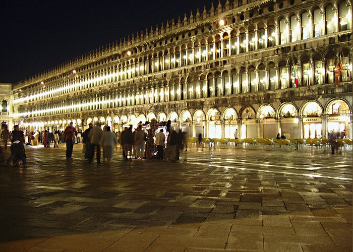 Piazza San Marco Greeting Card featuring the photograph Piazza San Marco by Ellen Henneke