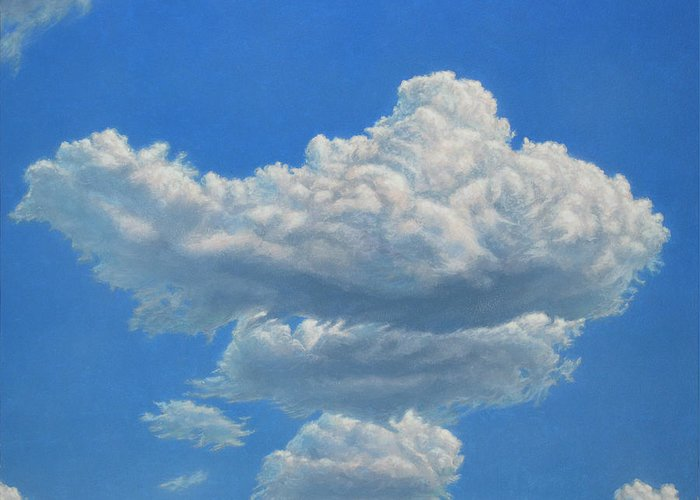 Sky Greeting Card featuring the painting Piece Of Sky 3 by James W Johnson