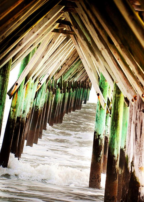 Pier Greeting Card featuring the photograph Pier by Val Stone Creager