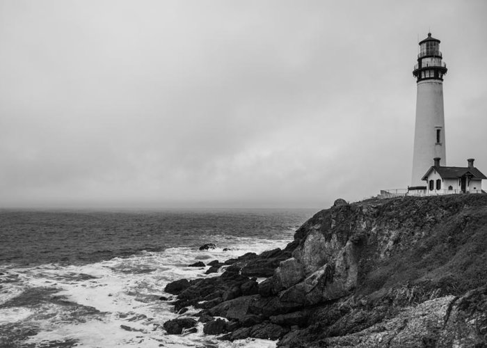 Lighthouse Greeting Card featuring the photograph Pigeon Point Lighthouse by Ralf Kaiser