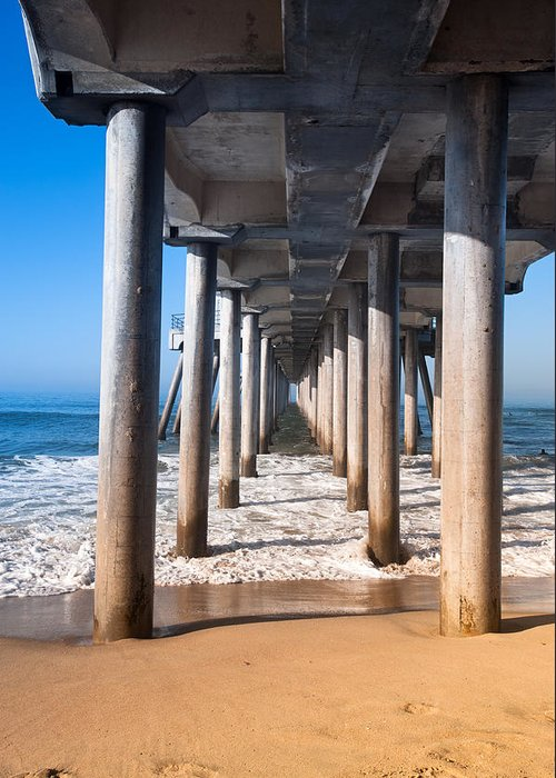 Beach Greeting Card featuring the photograph Pilings by Joe Belanger