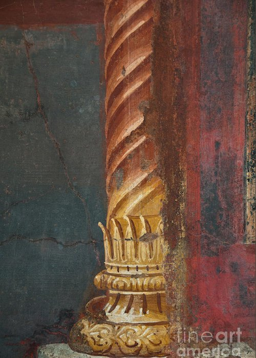 Pompeii Greeting Card featuring the photograph Pillar by Marion Galt