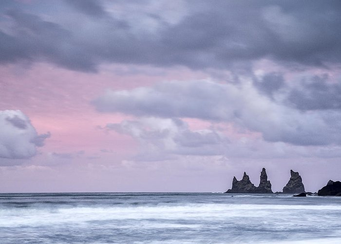 Blue Greeting Card featuring the photograph Pillars Of Iceland by Jon Glaser