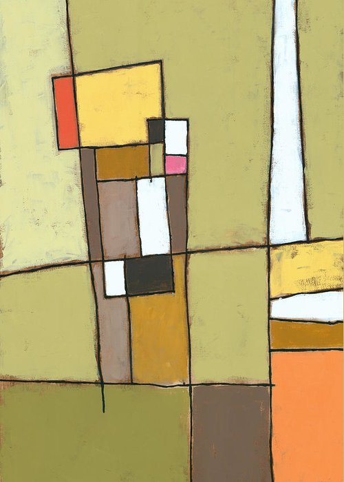 Abstract Greeting Card featuring the painting Pimento by Douglas Simonson